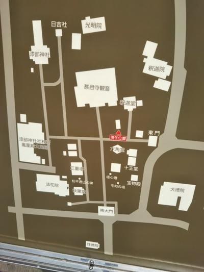 甚目寺観音の地図